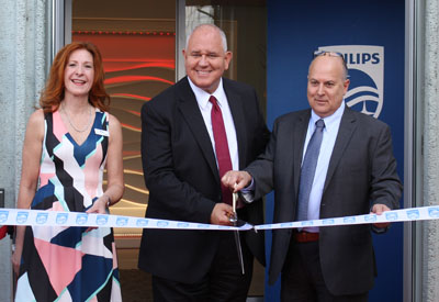 Ribbon cutting for Philips' new Lighting Concept Centre (LCC)