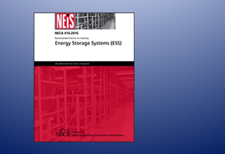 Cover shot of NECA's Recommended Practice for Installing Energy Storage Systems