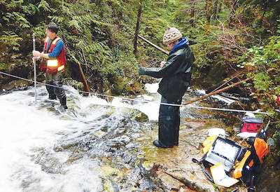 Assessing stream flow on Ahtaapq Creek for Hot Springs Cove hydro project