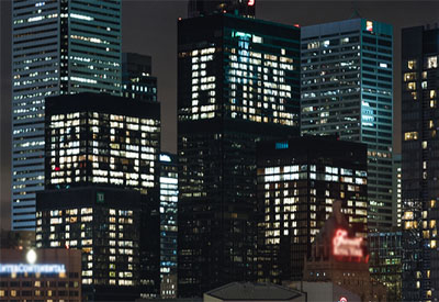 Electricians Provide Assistance in TD Centre's 50th Anniversary Illumination Project