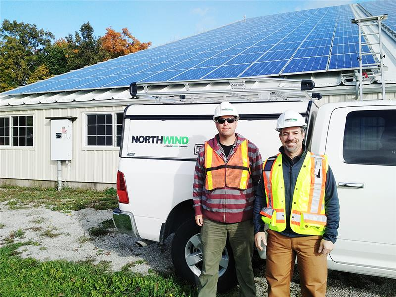 Jason with Damien Schneider RenewableEnergyTechnician Northwind a Spark Power Company Oct 2016